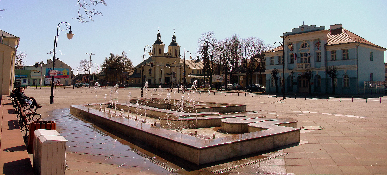 Plac T. Kościuszki w Aleksandrowie - widok współczesny